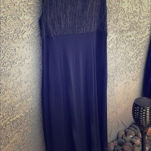 Plus size Blue formal evening gown.